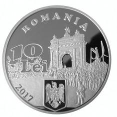 10 LEI 2017 TIRAJ 200 EX. 140 ani proclam. Independenței de stat a României - Moneda Romania, Argint