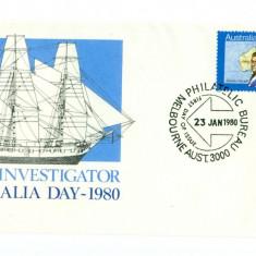 AUSTRALIA - FDC 1980 - HMS Investigator, Europa, Istorie