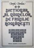 Dictionar al numelor de familie romanesti  -  Iorgu Iordan, Alta editura