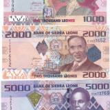 Bancnota Sierra Leone 1.000, 2.000 si 5.000 Leones 2013 - P30-32 UNC ( set x3 ) - bancnota africa