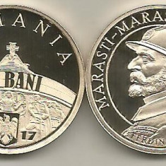 ROMANIA 50 BANI 2017, 100 Ani MARASESTI MARASTI OITUZ- FERDINAND I, PROOF - Moneda Romania, Alama