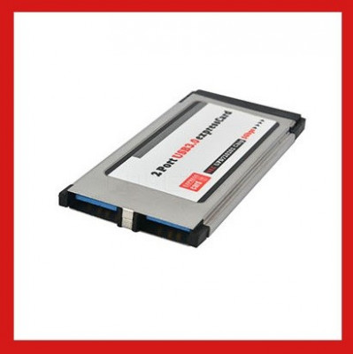 Adaptor Express Card  la USB 3.0 (2 porturi) foto