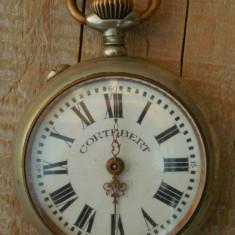 CEAS VECHI DE BUZUNAR - CORTEBERT - CARCASĂ DIN ALAMĂ ARGINTATĂ, NEFUNCȚIONAL! - Ceas de buzunar vechi