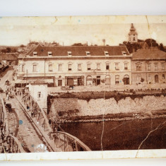 Carte postala - Lugoj - Podul de fier - Carte Postala Banat dupa 1918, Circulata, Printata