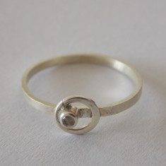 Inel argint cu zirconiu -2152