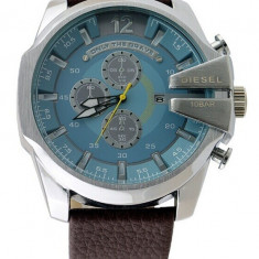 CEAS BARBATESC DIESEL ONLY THE BRAVE TIMEFRAME DZ-4281 OVERSIZE BLUE-MODELNOU, Casual, Quartz, Inox, Piele, Data