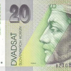 Bancnota Slovacia 20 Korun 1993 - P20a UNC