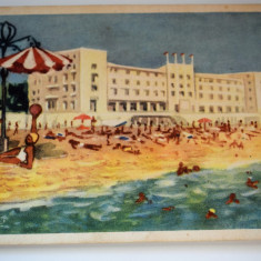 Carte postala - Mamaia - Plaja - Carte Postala Banat dupa 1918, Circulata, Printata