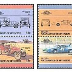 Bequia Grenadines of St Vincent 1985 - automobile, serie neuzata
