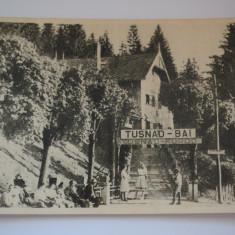 Carte postala - Tusnad Bai - Gara - Carte Postala Banat dupa 1918, Circulata, Printata