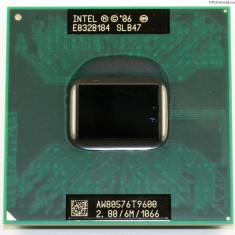 Procesor Laptop Intel T9600 Socket P 2.80 Ghz Core 2 Duo 6m L2 Cache 1066Fsb mhz
