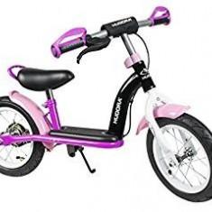 Bicicleta cu cadru metalic fara pedale Hudora, roz 12 inch - Bicicleta copii