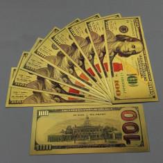 100 DOLARI 2013 - BANCNOTA POLYMER PLACATA CU AUR DE 24K - bancnota america