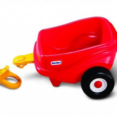 Remorca rosie pentru masinuta printesa Cozy - Little Tikes