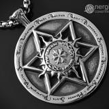 Pandantiv Soare, Zodiac, Steaua lui David (Scutul lui David) INOX - cod PND050