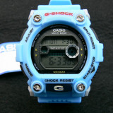 CEAS CASIO G-SHOCK DW-7900 SKY BLUE-MECANISM JAPONEZ-POZE 100% REALE-REDUS ! - Ceas barbatesc Casio, Sport, Quartz, Cauciuc, Alarma, Electronic