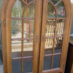 Vitrina plus comoda stejar - Vitrina living