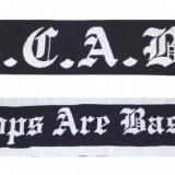 Fular pentru ultrasi fotbal ACAB All cops are bastards--Fular anti politie, Marime: Alta, Culoare: Negru