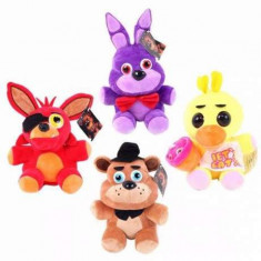 Five Nights at Freddy's set 4 jucarii de plus 12cm FNAF - Jucarii plus Disney