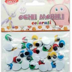 Ochi mobili 16 mm colorati