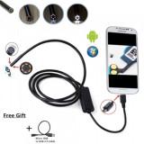 Camera endoscop 1m Android PC USB CAMERA ENDOSCOPICA 6 LED 1M baroscop video spy - USB gadgets