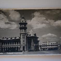Carte postala - Poza - Buzau - Palatul Comunal - Carte Postala Banat dupa 1918, Circulata, Printata