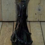 VAZĂ ROMÂNEASCĂ FOARTE MARE ȘI VECHE COFNECȚIONATĂ DIN STICLĂ MASIVĂ ÎN ANII 70! - Vaza sticla