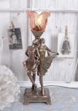 LAMPA  ART DECO CU DOUA FEMEI  IS282