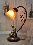 LAMPA ART DECO CU O FEMEIE CU ABAJUR LALEA   IS278