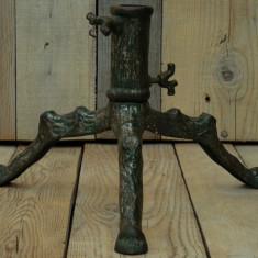 SUPORT DEMONTABIL CONFECȚIONAT DIN FONTĂ PENTRU BRAD DE CRĂCIUN - VECHI 1900! - Metal/Fonta, Ornamentale