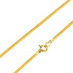 Lanț din aur cu zale piele de șarpe și secțiuni încrucișate, 500 mm - Lantisor aur