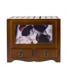 Album foto lemn, 10x15, 192 poze, personalizabil, forma dulapior vintage