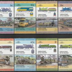 Grenadines of St Vincent 1984 - locomotive, serie neuzata