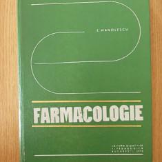 FARMACOLOGIE- MANOLESCU- cartonata - Carte Farmacologie