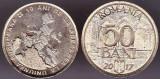 Moneda comemorativa 50 bani 2017 UNC din fisic 10 ani de la aderarea  UE