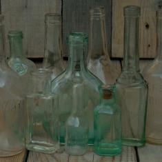 LOT 10 STICLE FARMACEUTICE - ROMÂNEȘTI ȘI AUSTRO-UNGARE - VECHI 1900 (DIANA)! - Sticla