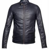 Jacheta bleumarin din piele ecologica, pentru barbati - Jacheta barbati