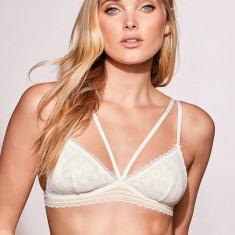 Victoria's Secret Bralette bustiera dantela S M - Bustiera dama Victoria's Secret, Culoare: Alb