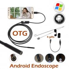 CAMERA endoscopica camera video ENDOSCOP camera inspectie auto BAROSCOP 6 LED 1m - Gadget supraveghere