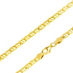 Lanț din aur - zale eliptice plate, pivot în mijloc, 550 mm - Lantisor aur