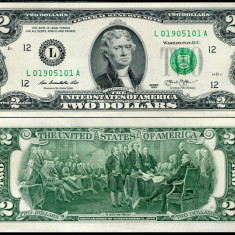 !!! SUA - 2 DOLARI 2013 - P 538 - UNC / L - SAN FRANCISCO - bancnota america