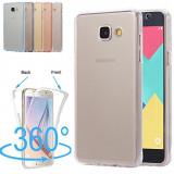 Husa silicon 360° fata + spate Samsung Galaxy A3 2016 / A5 2016 / A6 2018, Samsung Galaxy A5, Albastru, Auriu, Gri, Roz, Transparent