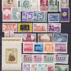 Turcia 1955-60 lot de serii complete MNH w45 - Timbre straine, Nestampilat