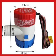 Pompa apa 12V BILGE submersibila pentru rezervoare, gradina, barca, rulota etc - Pompa gradina, Pompe submersibile, de drenaj