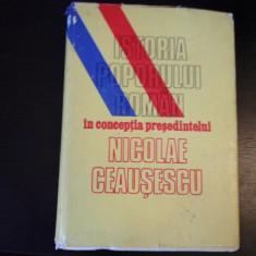 Istoria poporului roman in conceptia pres. N.Ceausescu- Ed. Politica, 1988, 355 p - Carte Epoca de aur