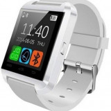 Resigilat! Smartwatch iUni U8+, BT, LCD 1.44 inch, Notificari, Bluetooth, Alb