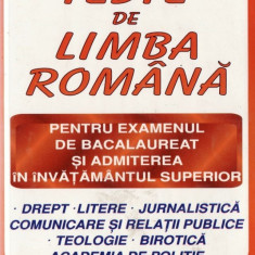 TESTE DE LIMBA ROMANA de NICOLAE CHIRU - Manual scolar didactica si pedagogica, Clasa 9, Didactica si Pedagogica
