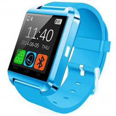 Resigilat! Ceas Smartwatch iUni U8+, BT, LCD 1.44 inch, Notificari, Light Blue