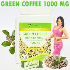 Green Coffee 1000 Mg (Cafea Verde) pt Slabire, Grasime Abdominala - 60 Capsule - Produs de Slabit