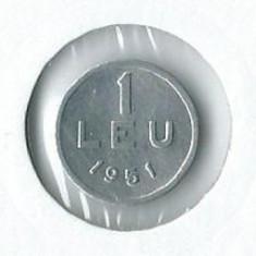 156- 1 Leu 1951 UNC!! - Moneda Romania